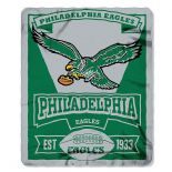 Philadelphia Eagles Fleece Throw Blanket, Retro Marquee Design
